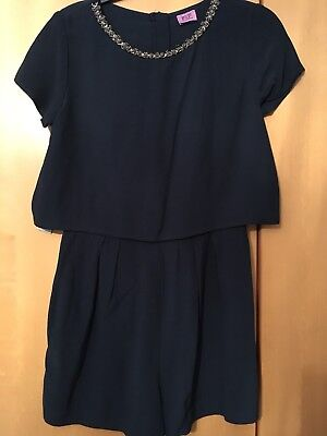Girls Navy Playsuit By F&F At Tesco Age 9-10yrs