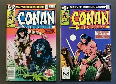 Conan The Barbarian 96, 112 Vf/nm 2 Comic Lot