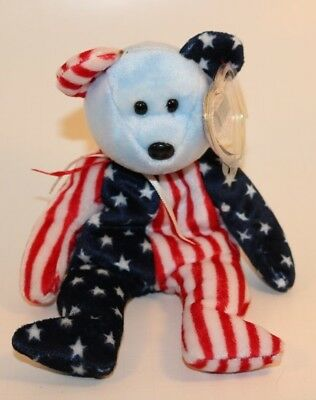 Ty Beanie Baby Spangle in Red White & Blue  born June 14, 1999