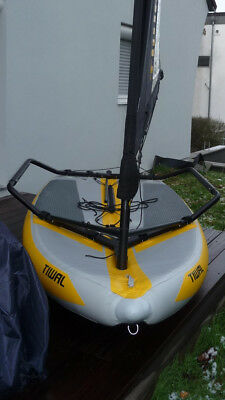 Tiwal 3.2 inflatable performance sailboat aufblasbar Racing Skiff kompakt
