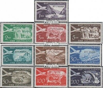 Trieste - Zone B 113-122 (complete issue) unmounted mint / never hinged 1954 Air