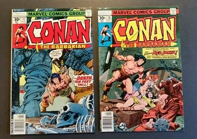 Conan 77, 78 **2 Comic Lot** Red Sonja Appearance
