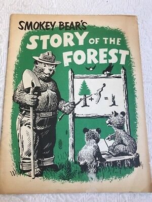 VTG 1959 U.S. Dept of Agriculture booklet: Smokey Bear's Story of the Forest #B