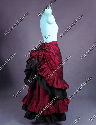 Victorian Gothic Downton Abbey Bustle Skirt Theater Steampunk Clothing K034 S