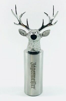RARE Jagermeister XL Decorative Stainless Steel Stag Deer Head Bottle Pourer NEW