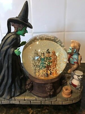 Wizard of Oz Wicked Witch Musical Crystal Ball San Francisco Music Snow Globe