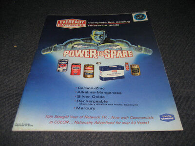 1963 Eveready Batteries Catalog brochure reference guide Union Carbide