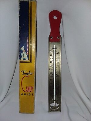 Vintage Taylor Candy Guide Thermometer Red Handle 1940s or 50s with Original Box