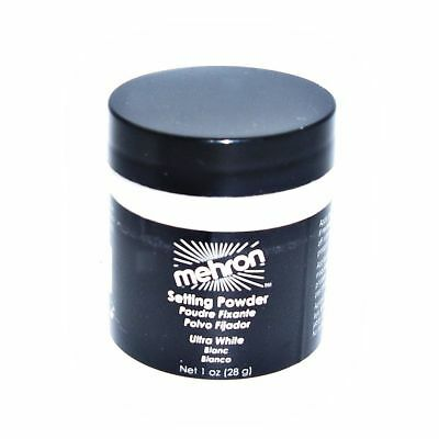 Mehron White Setting Powder for  Makeup - new and sealed in orig. shipper