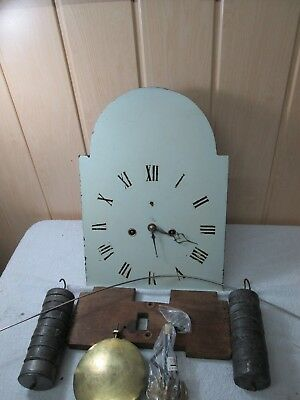 8.Hour Grandfather Clock Dial and Movement Weights and Pendulum