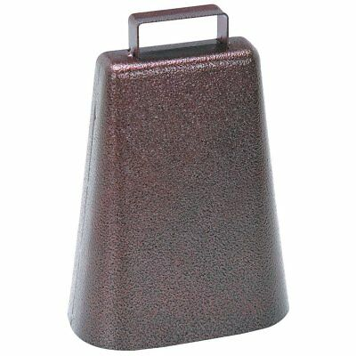 7 Inch Steel Cow Bell with Handle and Antique Copper Finish 1 Pack