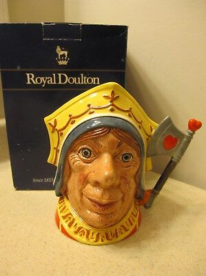 ROYAL DOULTON   THE RED QUEEN #D6777 -TOBY JUG, alice in wonderland - New in Box