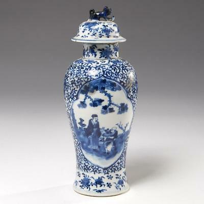 Chinese Blue & White Jar And Cover, Qing Dynasty