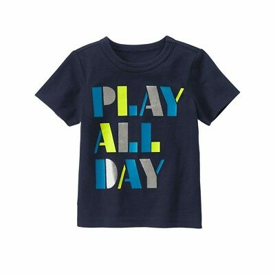 """NEW GYMBOREE """"Play All Day"""" Tee Shirt Toddler Boy SIZE 12-18M"""