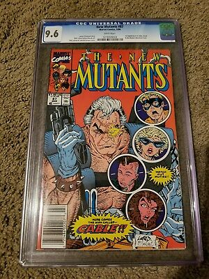 New Mutants 87 CGC 9.6 1st Appearance of Cable White Pages