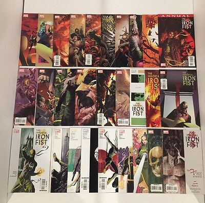 Lot Of 36 Immortal Ironfist #1-27 Complete Set +1 Shots/ Mini- Brubaker/fraction