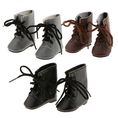 3 Pairs Fashion Lace up Boots for 14'' American Girl Doll Clothes Accessory