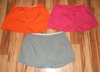 Lot of Three Vintage Cotton Solid Boxers Sz 34