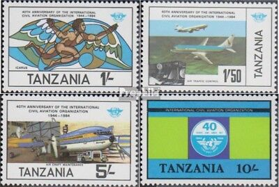 Tanzania 246-249 (complete issue) unmounted mint / never hinged 1984 Civil Aviat