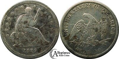 1839 25c Seated Liberty Quarter F-VF details rare old key date type coin money