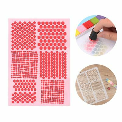 New Plastic Layering Stencils DIY Scrapbooking Paper Card Wall Painting