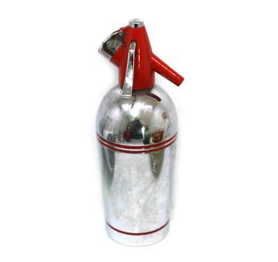 Vintage Sparklets chome & red unusual soda syphon