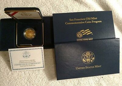 2006 San Francisco Old Mint Commemorative Proof $5 Gold Coin