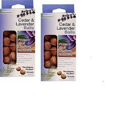 2X 18 Ceder And Lavender Moth Balls Non Toxic Natural Ceder Twin Pack