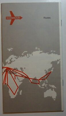 Swissair Airlines 1971  Air Routes Brochure