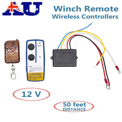 Car Winch Wireless Remote Control 50ft Controller Truck Jeep ATV Warn Ramsey AU