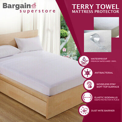 Waterproof Terry Towel Mattress Protector Topper Bed Cover Fitted Sheet All Size