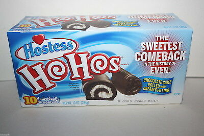 10 x Hostess Ho Hos Individually Wrapped Cakes 284g box