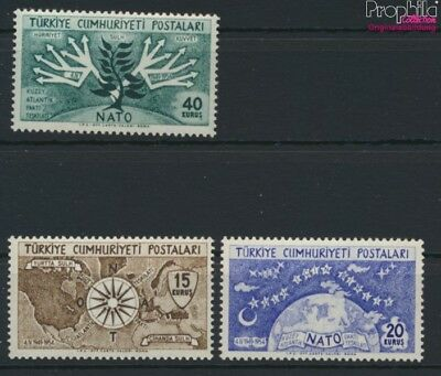 Turkey 1388-1390 (complete issue) unmounted mint / never hinged 1954  (9119930