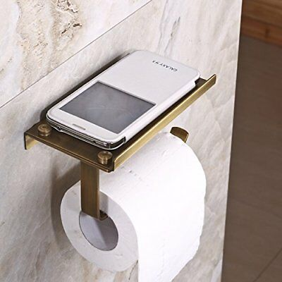 Hiendure® Antique Brass Wall-mounted Toilet Roll Holder Towel Rack Soap Dishes