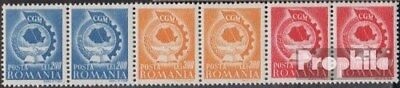 Romania 1037-1039 six strips (complete issue) unmounted mint / never hinged 1947