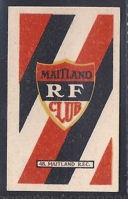 Kramers-Badges Of South African Rugby-#48- Maitland - Maple Plug Cut