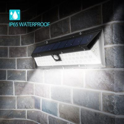 90 LED Solar Power PIR Motion Sensor Wall Light Outdoor Waterproof Garden Lamp
