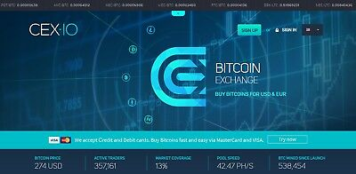 CEX.IO Account With some Deposit