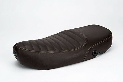 Bench Seat Piaggio Brown Touring Stitched For Vespa S ET2 ET4 LX LXV 50-150cc