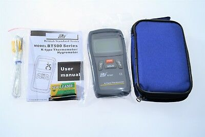 K type Digital Thermometer Hygrometer BT501 British Standard Tester