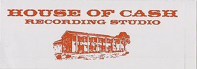 Johnny Cash House Of Cash Recording Studio RARE promo sticker '06