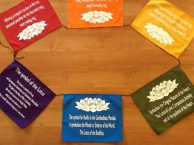 Symbol of the Lotus - Prayer Flags/Banner - Positive Affirmations - Large