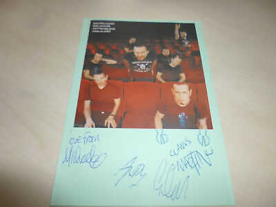 Therapy - Heavy Metal - Orig. Autogrammkarte - Signed!!!