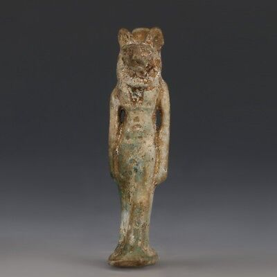 Green Glazed Faience Sekhmet