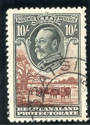 Bechuanaland 1932 KGV 10s black & brown very fine used. SG 110. Sc 116.