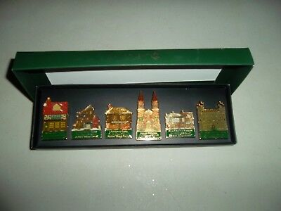 Department 56 History Pins 20th Anniversary Dickins' Village Series Set of 6