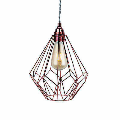 Contemporary Geometric Copper Wire Ceiling Light Pendant Fitting Chandelier NEW