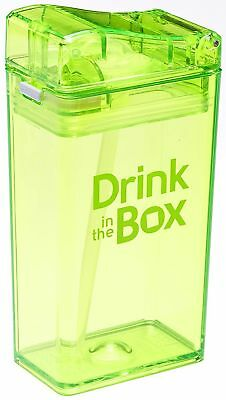 Drink in the Box Eco-Friendly Reusable Drink and Juice Box Container, 8oz... New