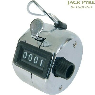 Jack Pyke Chrome Hand Tally Counter 0-9999 Hunting Shooting Shot Bird Clicker