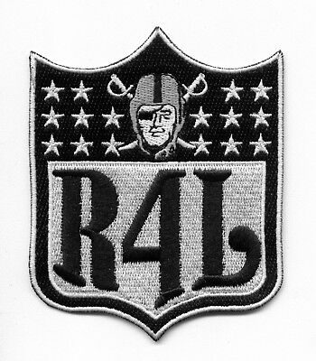 OAKLAND RAIDERS NFL Shield Raider Nation for Life Football Iron-on Jersey PATCH!